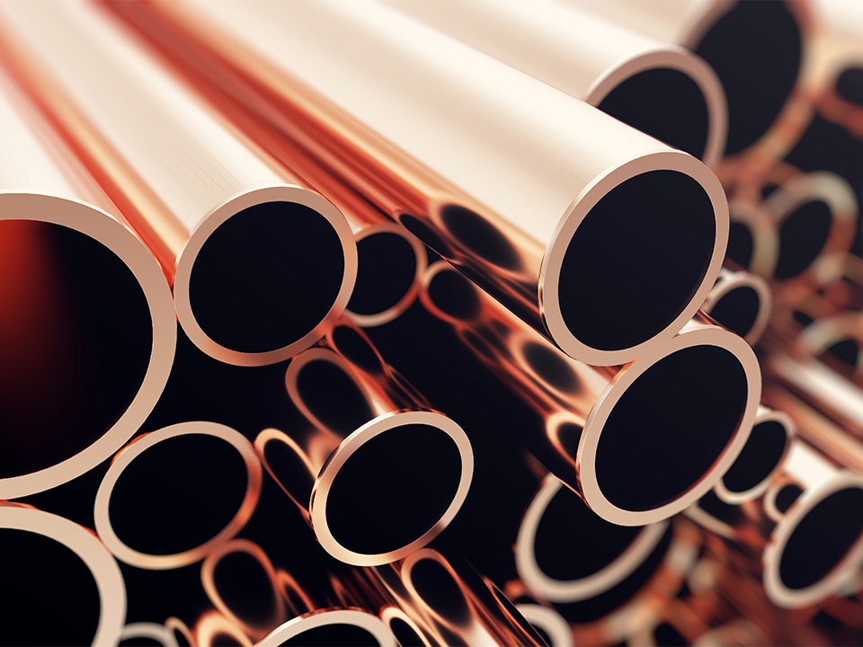 Industry business production and heavy metallurgical industrial products, many shiny